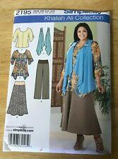 Simplicity Khaliah Ali Collection Tunic, Pants pattern #2195 Size 20W-28W UNCUT