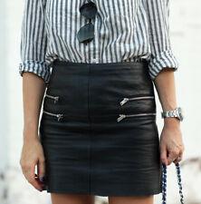 Zara Faux Leather Side Zips Mini Skirt Size M Medium Bloggers Fave