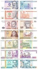 Perú 10 + 50 + 100 + 500 + 1000 + 5000 + 10000 Intis Conjunto de 7 Billetes Unc