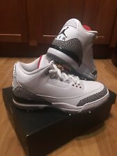 New DS Nike Air Jordan 3 Golf Shoe Cleat White Cement Size 9.5