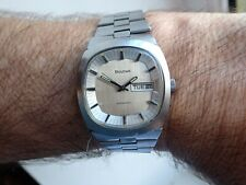 Bulova Automatic 1974 Birth Year 23J CAOL 11A Lovely Tv Dial Silver Day date