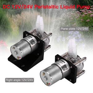 Portable 1pcs 12V/24V Peristaltic Pump fits Vacuum Aquarium Lab Analytical kit