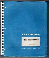 Tektronix Service Manual for the 465 Oscilloscope S/N below B250000