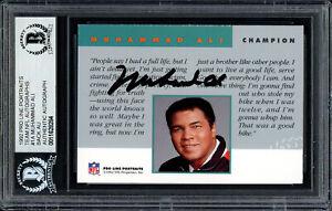 Muhammad Ali Autographed Signed 1992 Proline Portraits Card #1A Beckett 11628284