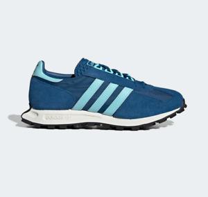 Adidas Originals RACING 1 Men's Size 10.5 Retro Sneakers Blue Suede H00479