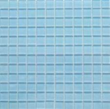 "1x1 Glass Tile Mosaic Kitchen Bath Wall: Light Blue - 12""x 12"""