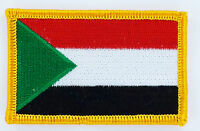 SUDAN SUDANESE FLAG PATCHES backpack  PATCH BADGE IRON ON NEW EMBROIDERED
