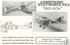 Model Airplane Plans (FF): Armstrong Whitworth FK8 1/12 Scale for .049 (,75cc)