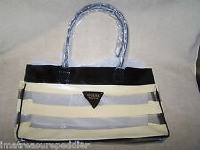 New/Unused Guess Seductive Vinyl Tote Bag - Snap Closure