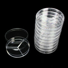 10 X Sterile Polystyrene Plastic Petri Dishes Plate With Lids 90x20mm LC210