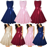 Women's Formal Lace Bridesmaid Wedding Dress Prom Evening Party Cocktail Gown