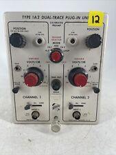 Vintage Tektronix Type 1a2 Dual Trace Plug In Unit