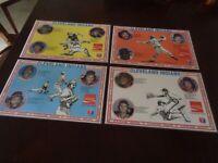 1977 Cleveland Indians Coca-Cola Placemat set of 4  - NR-MT - Dennis Eckersley
