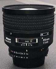 Nikon 85mm F1.4D AF  Prime Portrait Lens Very Clean Lightly Used