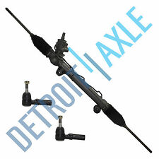 Complete Power Steering Rack and Pinion + 2 Outer Tie Rods w/o Magnasteer