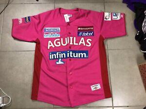"""Men's Aguilas De Mexicali DELGADO """"PINK PRO EDITION"""" Baseball XL Jersey Mexico"""