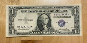 (1) Crisp Uncirculated 1935 Silver Certificates US Paper Currency CU Condition