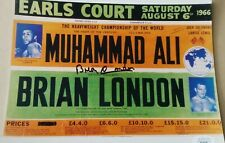 Brian London signed 8x10 photo vs Muhammad Ali JSA coa