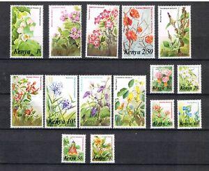 Kenya 1983 Set SG 257/71, Michel 240/54 Flowers MNH