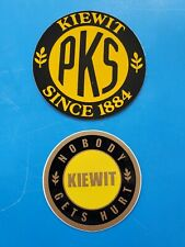2 Different KIEWIT Company Crane Union Equipment Hardhat Oilfield Stickers