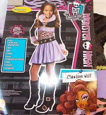 Monster High Clawdeen Wolf Werewolf Child Costume Metal Collar Belt S M NIP