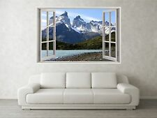 Mountain Scene 2 3D Full Colour Window Home Wall Art Stickers Mural Decal
