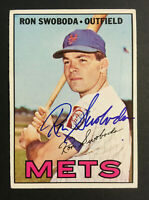 Ron Swoboda Mets signed 1967 Topps baseball card #264 Auto Autograph