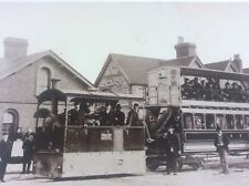 More details for stony stratford tram real photo buckinghamshire postcard social history scene