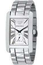 Emporio Armani Men's Silver Strap Wristwatches