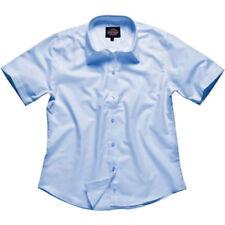 Camisas y tops de mujer de manga corta color principal azul de poliéster