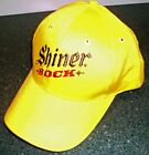 Shiner Bock Beer yellow embroidered Texas Brewery strapback ACME Hat Cap EUC