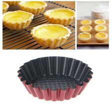 1PCS Egg Tart Carbon Steel Cupcake Cake Cookie Mold Pudding Mould Baking Tool