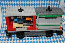 TOP NEU ** Container-Waggon für Lego Eisenbahn 9V, RC 60198 * PORTOFREI