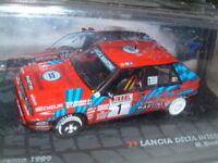 "1/43 LANCIA DELTA INTERGRALE 16V 1989 SAMREMO RALLY ""MIKI BIASION""  IXO/ALTAYA"