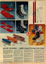 1978 ADVERTISEMENT Skateboard Coyote II Free Former Roller Derby Skates Official
