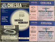 More details for chelsea v sheffield wednesday fa cup 6th round 1966/67 with 2 unused tickets