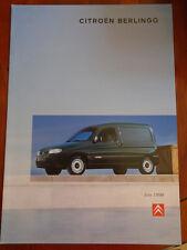 Citroen Berlingo range brochure Jul 1998 Irish market