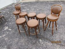 Thonet Style Bentwood Seat  Bistro Cafe Stool Shelby Williams lot of 7 ST)