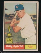 1961 TOPPS RON SANTO VG+  CHICAGO CUBS #35 ROOKIE CARD, LIGHT WRINKLE    53116HM