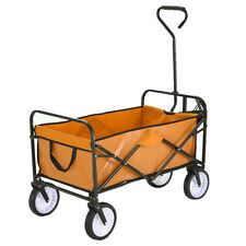 Pull Along Wagon Cart Trolley Festival Camping Foldable Garden Transport XL