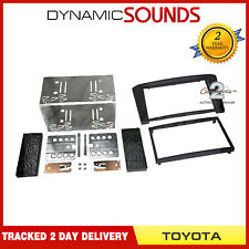 CT23TY05 Black Double Din Fascia Surround Trim For TOYOTA Avensis T25 2003 - 09