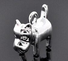 4 Pc Silver Plated Mastiff Dog Charm Pendants 17x14mm Lc2744