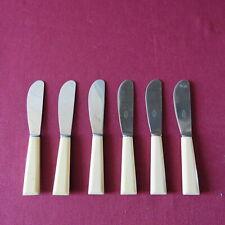 6 couteau à tartiner le beurre vintage manche composite lame inox L 17