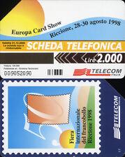 PUBBLICA FIGURATA _  EUROPA CARD SHOW 1998 - C&C 2968 GOLDEN 864 - USATA