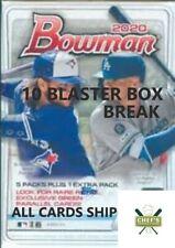 TEXAS RANGERS - 2020 BOWMAN BASEBALL 10 BLASTER BOX-1/4 CASE BREAK #3