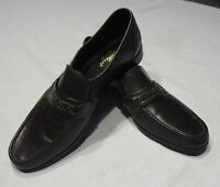 TOWNCRAFT MENS Brown Leather DRESS SHOES LOAFERS NM SZ 10.5 D