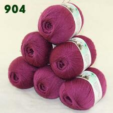 Sale Lot of 6 balls x 50g LACE Soft Acrylic Wool Cashmere hand knitting Yarn 904
