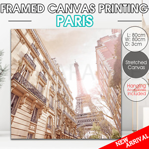 Paris canvas print stretched framed Wall art home decor painting 80*80cm