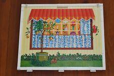 Vintage 1970 Barbie Lively Livin House Panel Part Base Grass Sidewalk Window