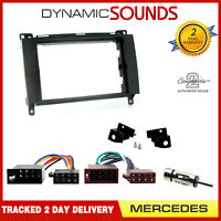Double Din Car Stereo Fitting Kit Fascia Panel ISO Wiring Loom for Mercedes-Benz